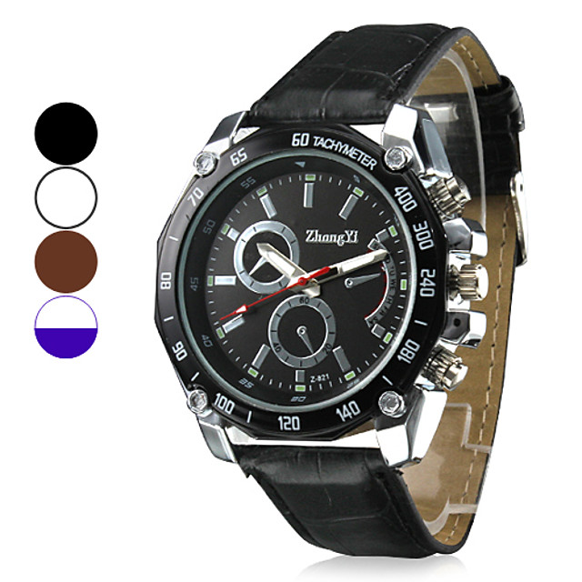 Bărbați Ceas Militar  Ceas de Mână Quartz Piele PU Matlasată Negru / Alb / Maro Ceas Casual Analog Charm - Negru Maro Alb / Alb