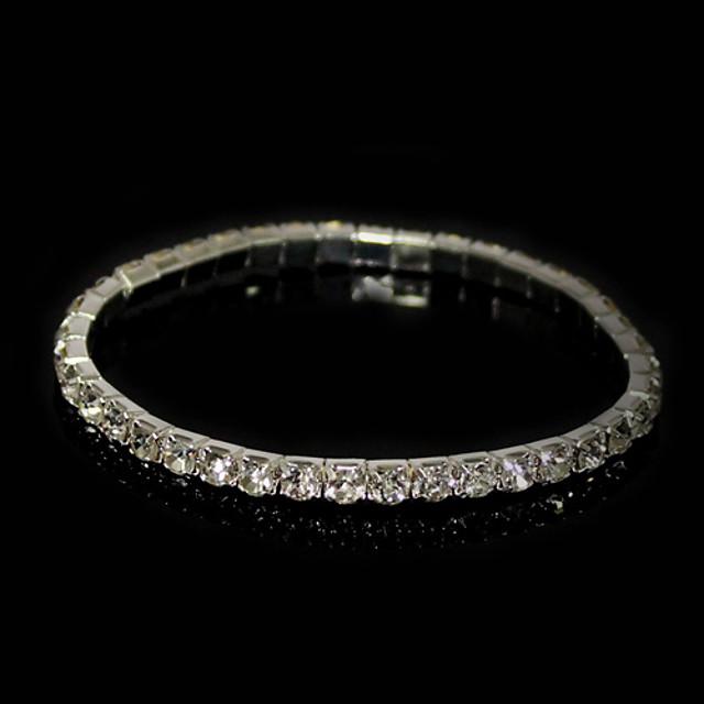 Bărbați Zirconiu Cubic diamant mic Bratari de tenis femei Zirconiu Bijuterii brățară Argintiu Pentru Cadouri de Crăciun Zilnic