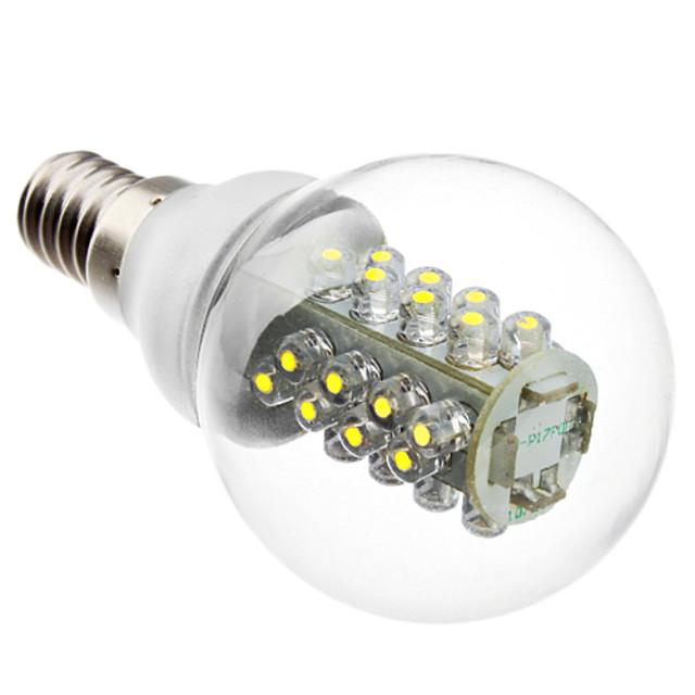 1 buc 2 W 100-130 lm E14 Bulb LED Glob G45 32 LED-uri de margele Dip LED Decorativ Alb 220-240 V / RoHs