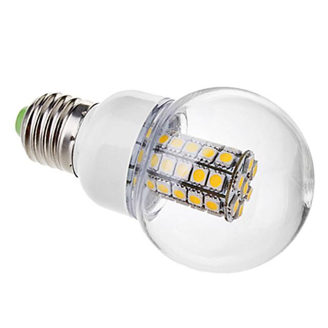 Bulb LED Glob 3000 lm E26 / E27 G60 47 LED-uri de margele SMD 5050 Alb Cald 220-240 V