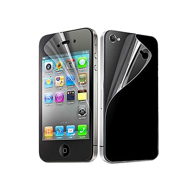 Ecran protector pentru Apple iPhone 6s / iPhone 6 / iPhone 4s / 4 PET 10 piese Ecran Protecție Față & Spate Ultra Subțire