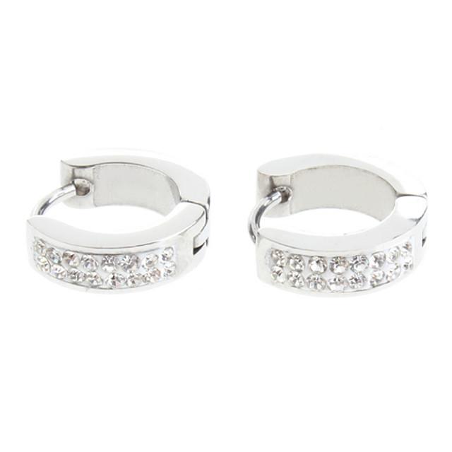 Pentru femei Diamant sintetic Cercei Rotunzi Cercei Huggie femei De Bază Pietrele Lunilor Elegant de Mireasă Teak Ștras cercei Bijuterii Argintiu Pentru Nuntă Petrecere Zilnic