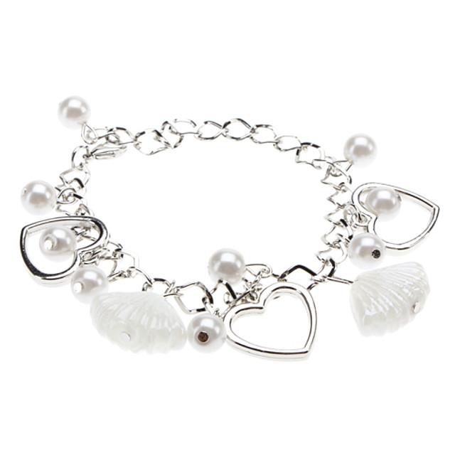 Pentru femei Brățări cu Talismane - Perle Inimă, Iubire Brățări Bijuterii Argintiu Pentru Cadouri de Crăciun Nuntă