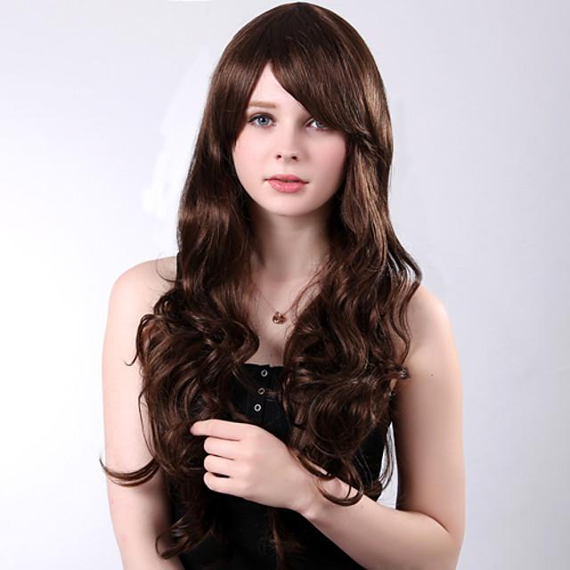 Peruci Sintetice Buclat Stil Frizură în Straturi Fără calotă Perucă Păr Sintetic 25 inch Pentru femei Perucă