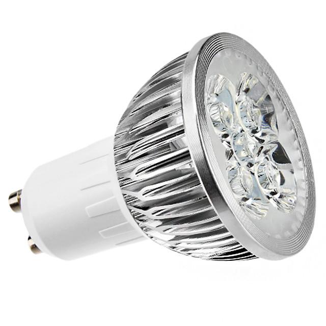 4 W Spoturi LED 400 lm GU10 MR16 4 LED-uri de margele LED Putere Mare Intensitate Luminoasă Reglabilă Alb Cald 220-240 V
