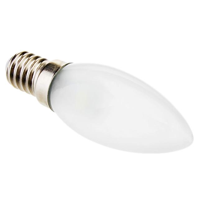1 buc 0.5 W Becuri LED Lumânare 15-30 lm E14 C35 3 LED-uri de margele SMD 5050 Crăciun decor de nunta Alb 220-240 V / RoHs