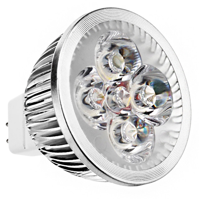 240lm GU5.3(MR16) LED Spot Lampen MR16 4 LED-Perlen Hochleistungs - LED Warmes Weiß 12V