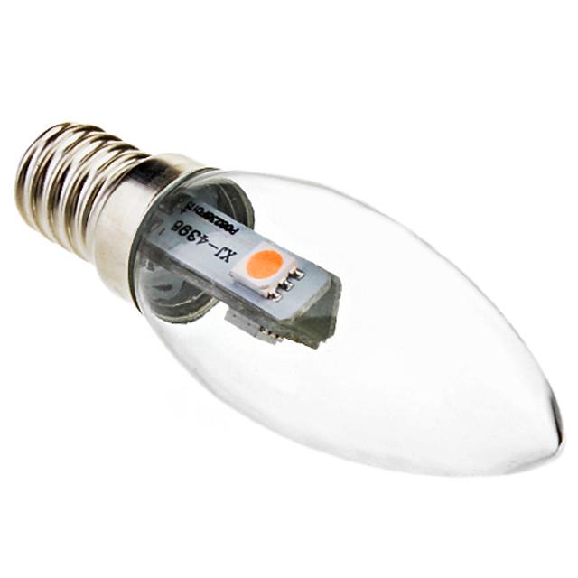 1 buc 0.5 W Becuri LED Lumânare 30 lm E14 C35 3 LED-uri de margele SMD 5050 Decorativ Alb Cald 220-240 V / RoHs