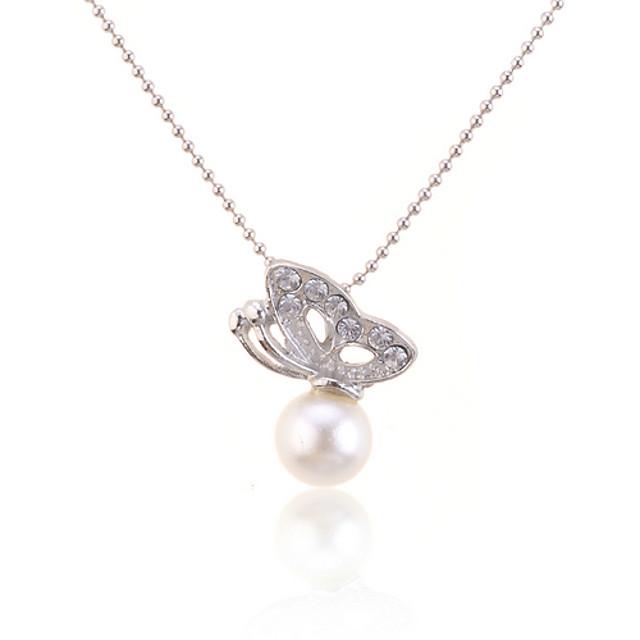 Pentru femei Perle Coliere cu Pandativ / Κολιέ με Πέρλες - Perle femei, Modă Alb Coliere Bijuterii Pentru Zilnic