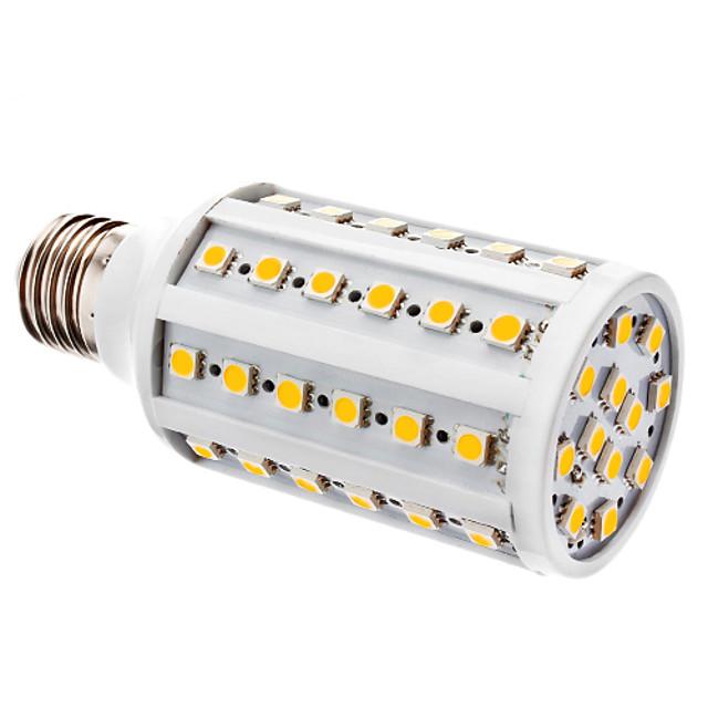 1 buc Becuri LED Corn 800 lm E27 T 60 LED-uri de margele SMD 5050 Alb Cald Alb 12 V