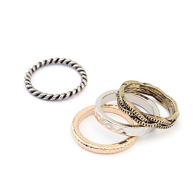 punk stil vintage set inel de bronz pentru femei (4 buc)