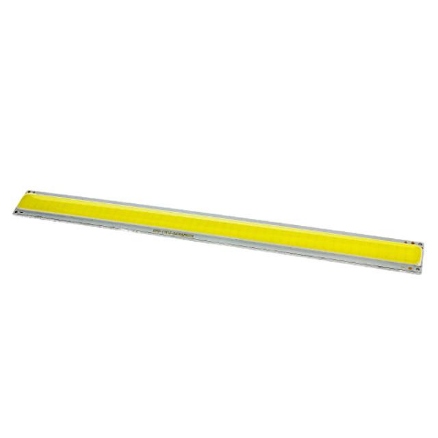 zdm diy 10w 170 x 15mm 900-1000lm vit 6000-6500k lätt cob ledd emitter förtjockad aluminium substrat (dc12v)
