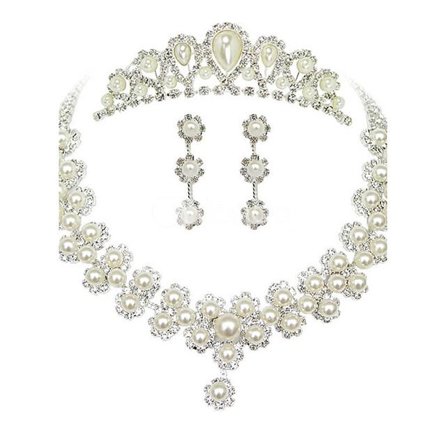 Pentru femei Seturi de bijuterii cercei Bijuterii Alb perlă Pentru Nuntă Petrecere Ocazie specială Aniversare Zi de Naștere Logodnă / Cercei / Coliere