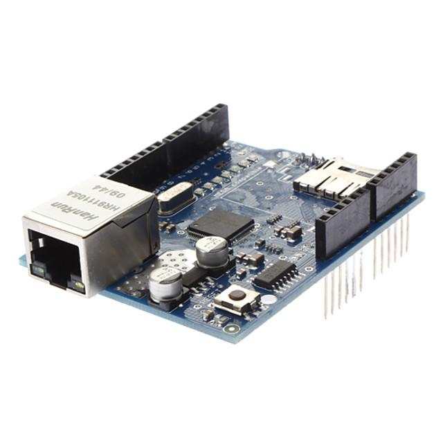 новый (для Arduino) Ethernet щит с WIZNET W5100 локальных сетей чипа / TF слот - синий