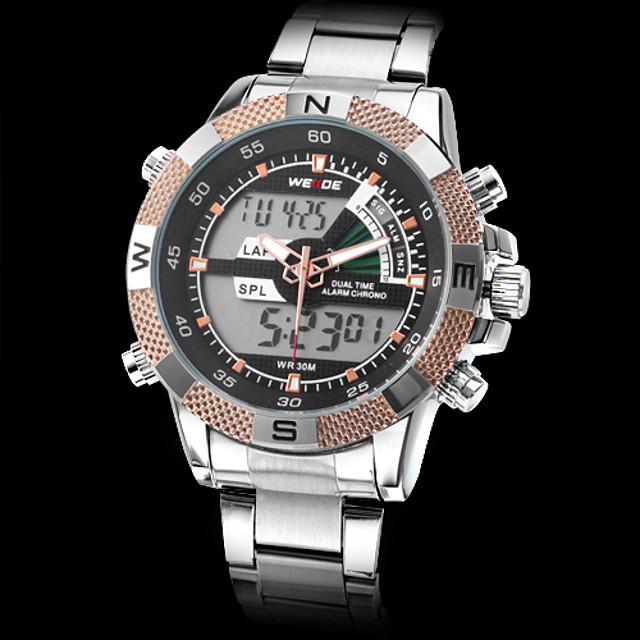 Bărbați Ceas Militar  Alarmă Calendar Cronograf Analog - Digital / LCD / Zone Duale de Timp