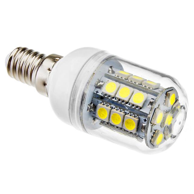 brelong 1 buc e14 27led smd5050corn lumina ac220v lumina alba