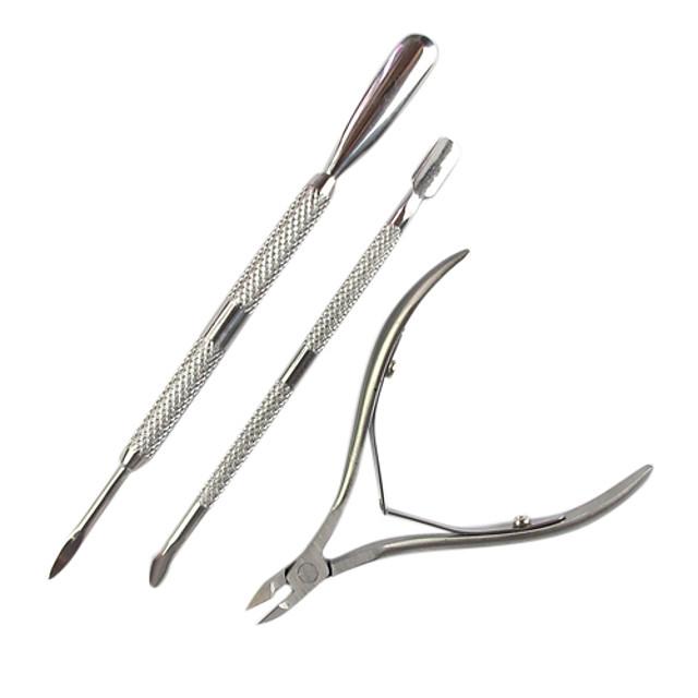 3pcs Teak Foarfecă Dispozitiv de Îndepartare a Calusurilor & Bătăturilor Pentru Cuticulă Unghie Unghie deget picior Mat nail art pedichiura si manichiura Design Unic / Clasic Zilnic