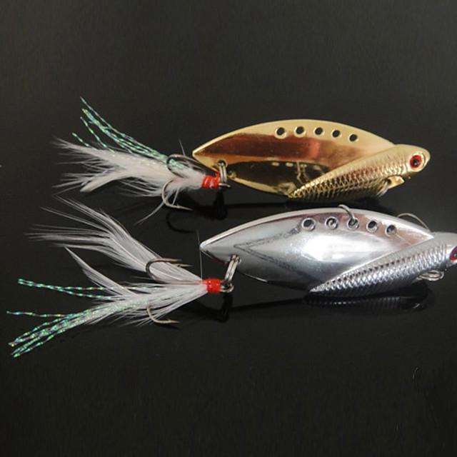 Noi de pescuit Proiectat 3 cârlige cu formă de pește Lure Metal (10g, 14g, 22g; Ramdon Color)