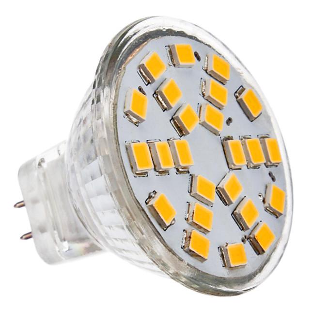 3 W Spoturi LED 2700 lm GU4(MR11) MR11 24 LED-uri de margele SMD 2835 Alb Cald 12 V