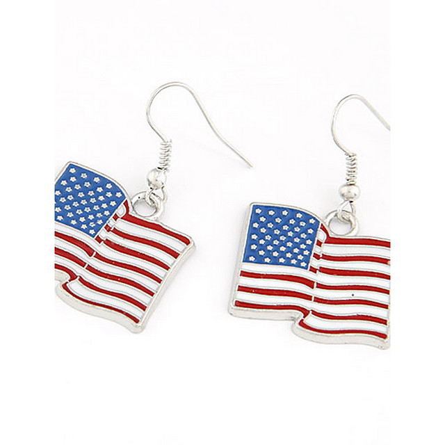 Steag Ieftin Bijuterii patriotice Personalizat Clasic Modă cercei Bijuterii Argintiu Pentru Petrecere Zilnic Casual