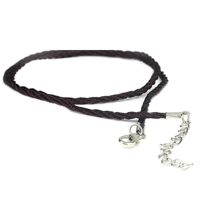 Men's Chain Necklace - Leather Black Necklace Jewelry For Daily