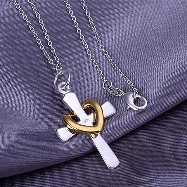Pandative  -  Σταυρός, Inimă Iubire, Inimă Coliere Pentru Mulțumesc, aleasă a inimii