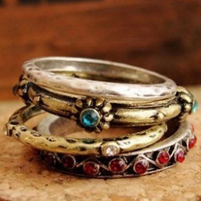 Pentru femei Band Ring - Articole de ceramică, Ștras, Aliaj Stilul Folk Bijuterii Pentru Petrecere Zilnic Casual