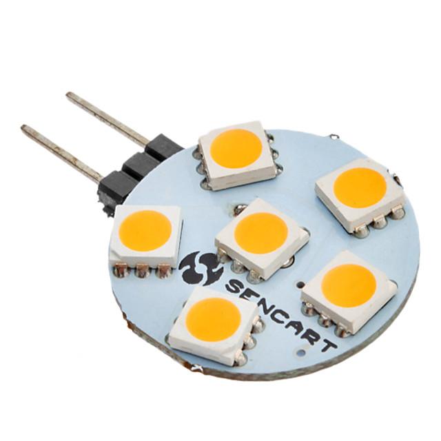 SENCART 1 buc 1 W Becuri LED Bi-pin 60-80 lm G4 6 LED-uri de margele SMD 5050 Alb Cald 12 V