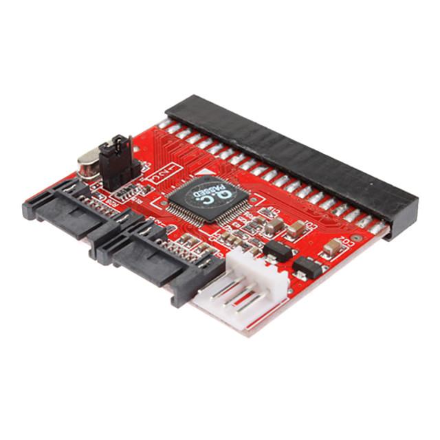 0,2 m 0.6ft nou HDD 3.5 IDE la SATA 100/133 Serial ATA adaptor convertor + cablu