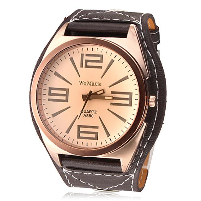 สำหรับผู้ชาย นาฬิกาตกแต่งข้อมือ นาฬิกาอิเล็กทรอนิกส์ (Quartz) ระบบอนาล็อก