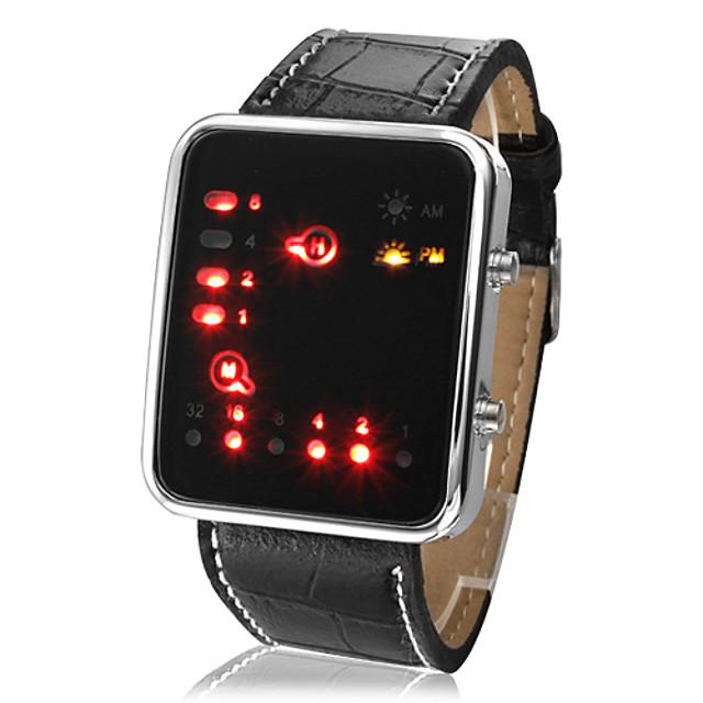 Per uomo Orologio da polso Orologio digitale Digitale Casual Calendario Di similpelle trapuntata Nero Digitale - Nero / Con LED