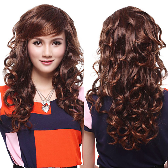 Synthetic Wig Wavy Synthetic Hair 20 inch Wig Women's Capless
