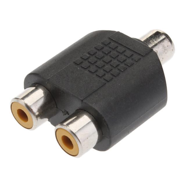 1-2 Femeie RCA AV Splitter adaptorul
