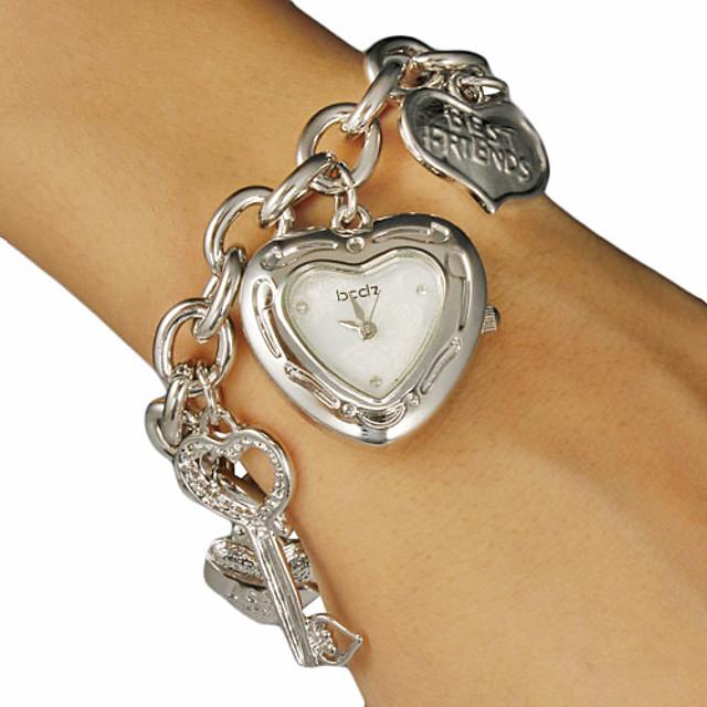Pentru femei Quartz Heart Shape Argint / Auriu Auriu Argintiu Un an Durată de Viaţă Baterie / SSUO SR626SW