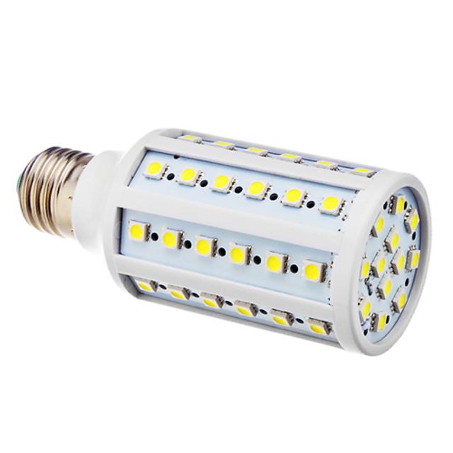 BRELONG® 1 buc 12 W 250 lm E26 / E27 Becuri LED Corn T 60 LED-uri de margele SMD 5050 Alb Rece 220-240 V