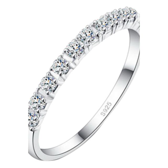 Pentru femei Inel de declarație Argintiu Aliaj Nuntă Bijuterii / Ștras