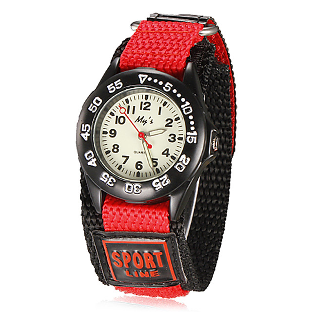 Relógio Esportivo Quartzo Preta / Azul / Vermelho Analógico Roxo Vermelho Azul