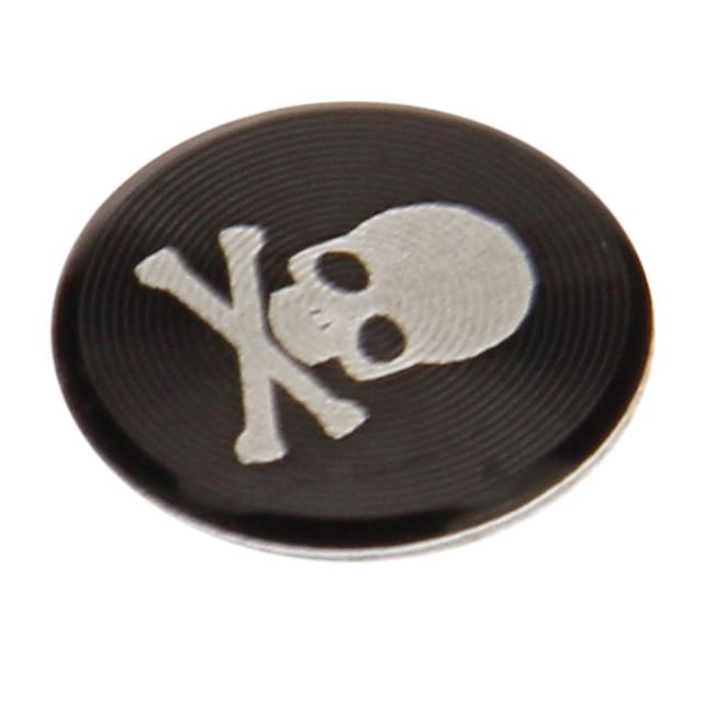 craniu de imprimare aluminiu negru autocolant butonul de acasă pentru iphone / ipad / ipod
