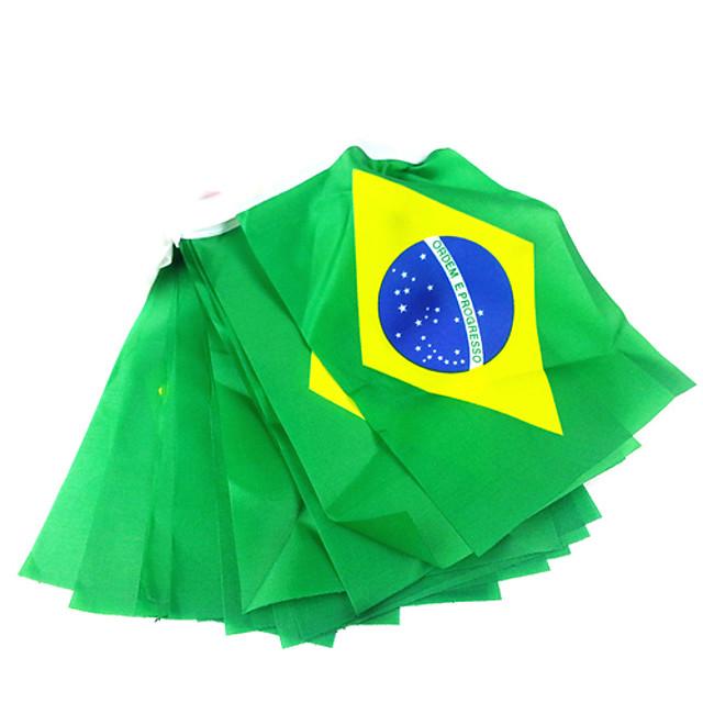 Hang narodowych flag-flagi Brazylii