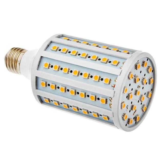 20 W Becuri LED Corn 600-630 lm E26 / E27 T 102 LED-uri de margele SMD 5050 Alb Cald 220-240 V