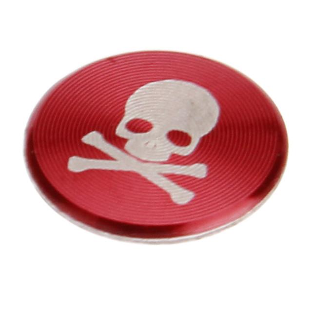 craniu de imprimare aliaj de culoare roșie acasă butonul de autocolant pentru iphone 8 7 samsung galaxy s8 s7 / ipad / ipod