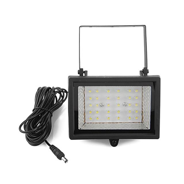 太陽光発電の超明るい30-LEDホワイトライトガーデンフラッドスポットライト芝生クールホワイトランプ(CIS-57129)
