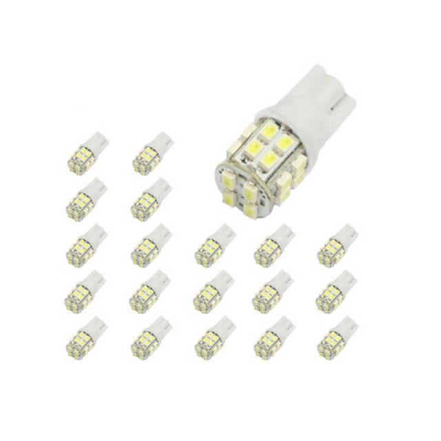 LORCOO 10pcs T10 Car Light Bulbs 2 W SMD 3020 150 lm 20 LED Side Marker Lights For