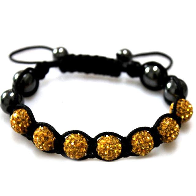 Pentru femei Brățări cu Mărgele Silver Bracelets femei Teracotă Bijuterii brățară Negru / Auriu / Verde Pentru Casual / Ștras