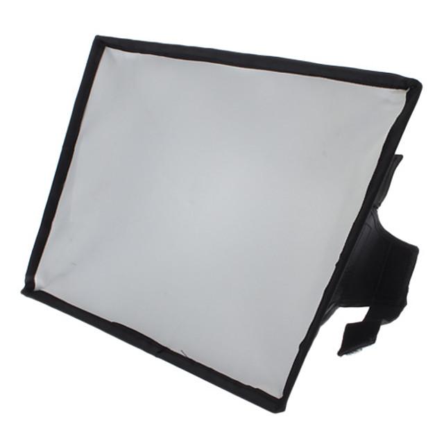 20 x 30 cm Portable Flash SoftBox Diffuser for 600EX 580EX 430EX SB-910 SB-900 SB-700  HVL-F58AM  F42AM (Black)
