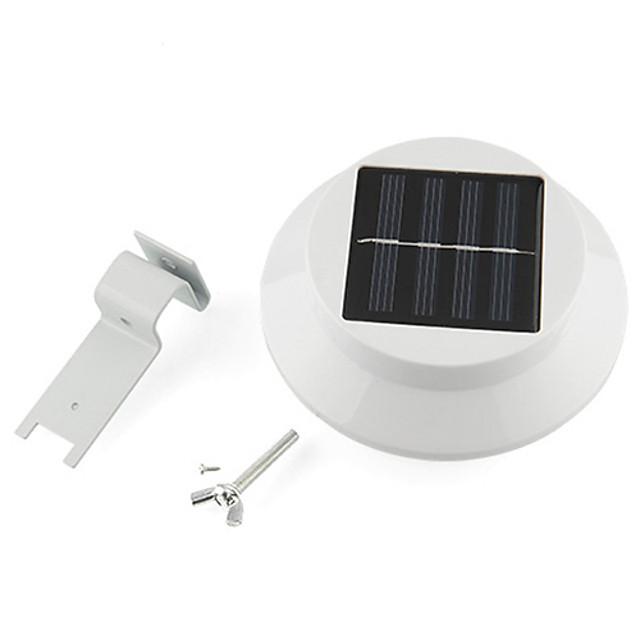 3 LED-uri cu reglaj electric gard jgheab de lumină în aer liber grădină curte perete lampă cale solar