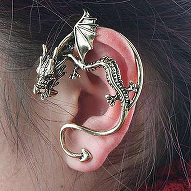 Pentru femei Cercei Stud Cătușe pentru urechi Căști de cățărare Balaur Ieftin femei Personalizat Design Unic Vintage cercei Bijuterii Bronz / Argintiu Pentru Petrecere Zilnic