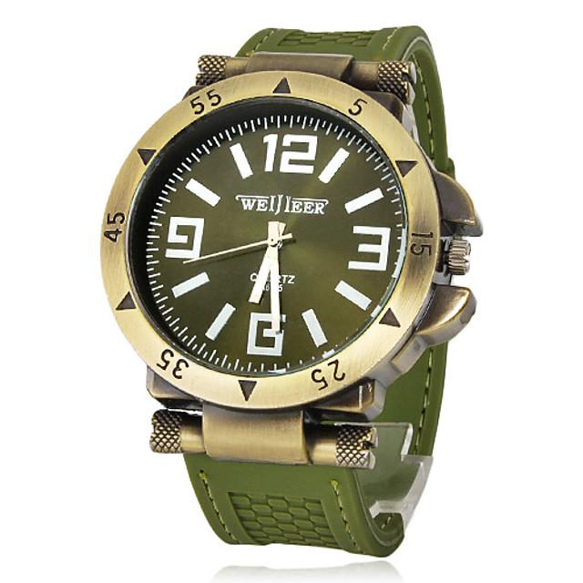 Bărbați Ceas Militar  câmp de ceas Vânătoare Watch Quartz Charm Ceas Casual Silicon Negru / Verde Analog - Negru Verde Argintiu Un an Durată de Viaţă Baterie / Japoneză / Japoneză
