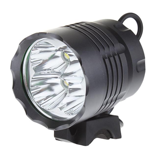 Pannlampor Cykellyktor 3200 lm LED LED 4 utsläpps 3 Belysning läge Strike Bezel Camping / Vandring / Grottkrypning Cykling Fiske / Aluminiumlegering