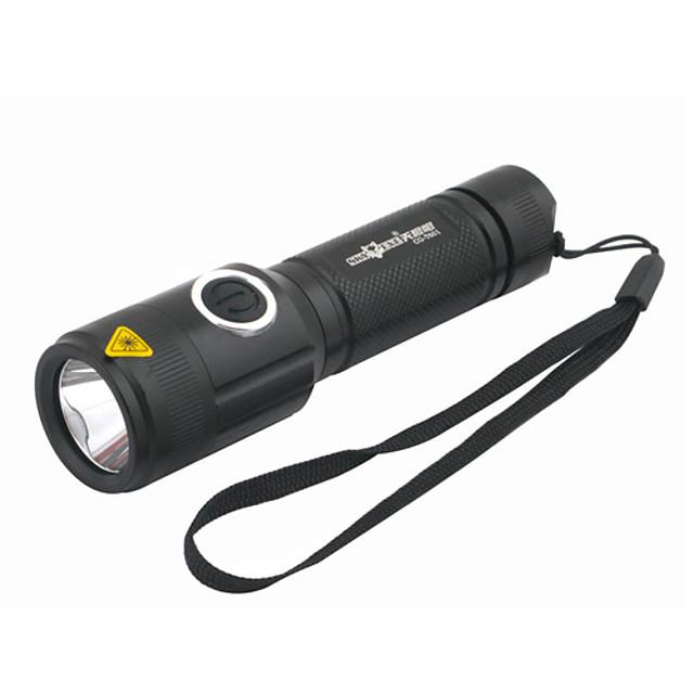 Lanterne LED Lanterne  Manuale Reîncărcabil 1000 lm LED Cree® XM-L T6 1 emițători 5 Mod Zbor Reîncărcabil Camping / Cățărare / Speologie Utilizare Zilnică Ciclism Negru / Aliaj de Aluminiu